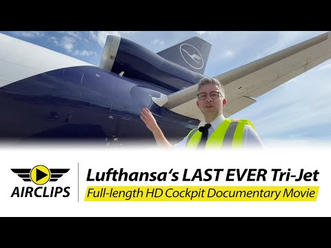 15 OCT 2021! New York JFK 🇺🇸 MD-11F Lufthansa Cargo Retirement flight Pilots Axel, Günter & Simon