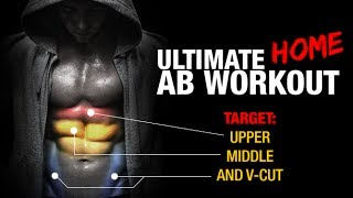 Ultimate Home Ab Workout (OBEN, MITTIG, unten V-SCHNITT!!)