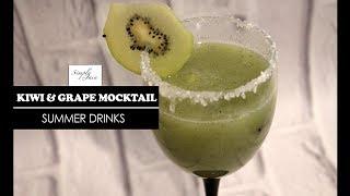 Grape & Kiwi Mocktail | How To Make Summer Mocktail | Summer Drinks | Simply Jain