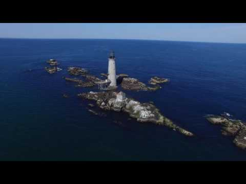 Boston Light and Graves Light via Drone