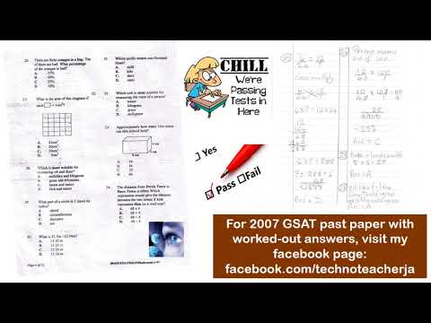 2007 GSAT Mathematics Past Paper With Answers FREE PEP
