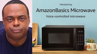 A VOICE ACTIVATED...MICROWAVE. [Amazon Basics]