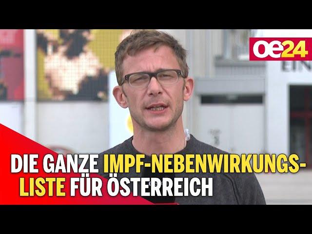Die ganze Impf-Nebenwirkungsliste für Österreich