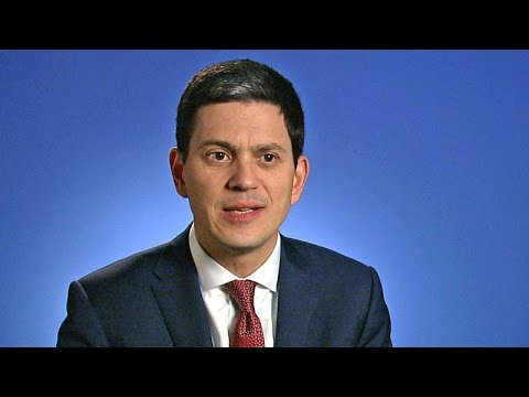 David Miliband, International Rescue Committee CEO: Talks at GS