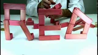 Build The (red) Logo Out Of Premium Wooden Toys From Tegu