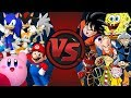 VIDEO GAMES vs CARTOONS! (Sonic, Mario, Kirby vs SpongeBob, Cartoon Network, Goku) Fan Animation!