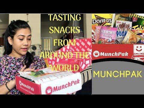 TASTING SNACKS FROM AROUND THE WORLD ! MUNCHPAK SUBSCRIPTION BOX