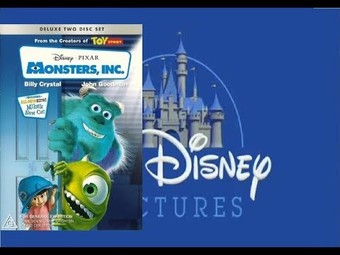 Opening To Monsters Inc 1999 DVD Australia