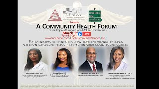 March 1st Community Health Forum (Covid19)