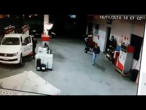 Dupla rende frentista e assalta posto de combustíveis na Paraíba; veja vídeo