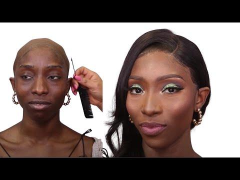 🔥 HAIR AND MAKEUP TRANSFORMATION💄  MILISA HAIR| MELANIN BLACK  BEAUTY MAKEUP