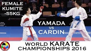 Video BRONZE. Female Kumite -55kg. CARDIN (ITA) vs YAMADA (JPN). 2016 World Karate Championships download MP3, 3GP, MP4, WEBM, AVI, FLV Agustus 2017