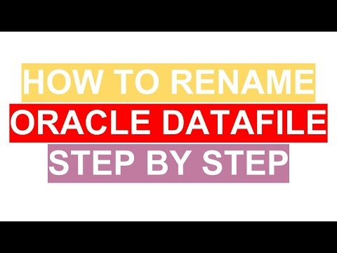 Oracle Tutorial - How to rename Datafile in Oracle step by step