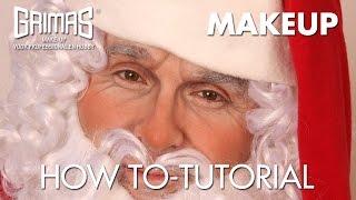 how to do a santa claus makeup como realizar un maquillaje de papa noel