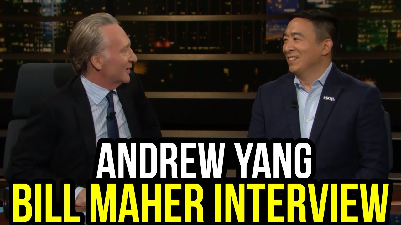 Andrew Yang on Real Time with Bill Maher | Full Interview January 17th 2020