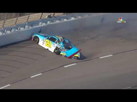 NASCAR Xfinity Series 2017. FP Texas Motor Speedway (2). Daniel Hemric Crash