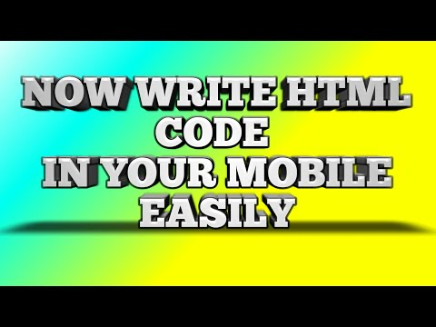 How To Write Html Code In Ur Mobile@MOBILE HTML EDITOR
