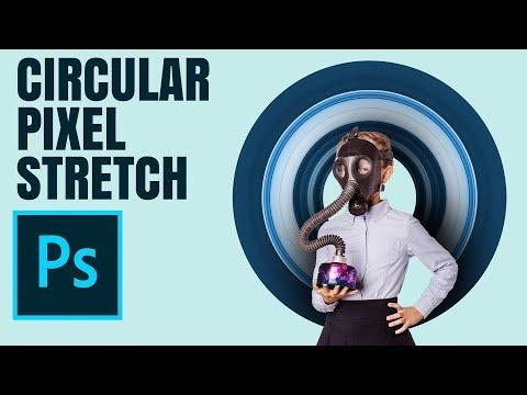 אפקט - Circular Pixel Stretch - Photoshop