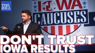 Election Expert Warns Media: Don't trust Iowa caucuses results