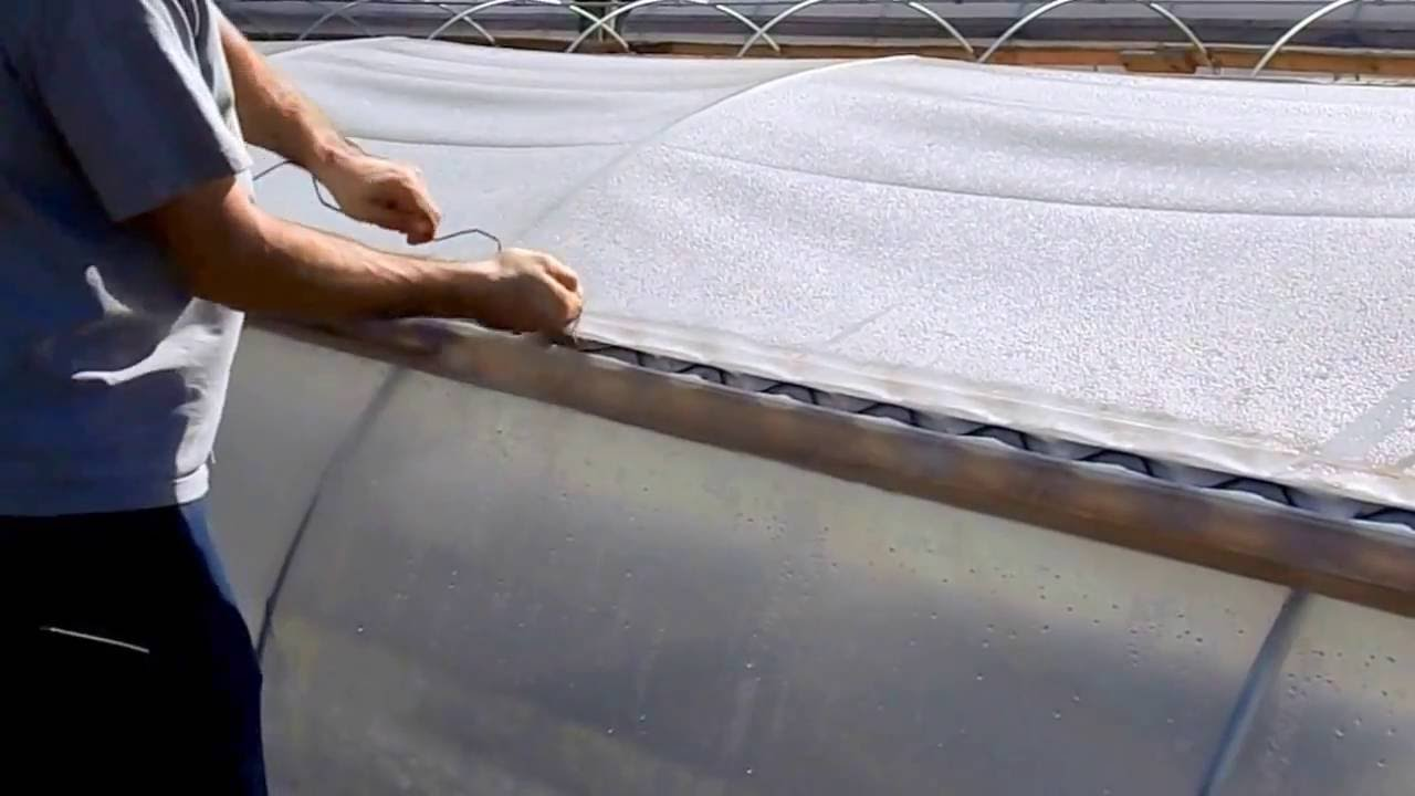 Wiggle Wire Installation - Attaching Plastic to Greenhouse