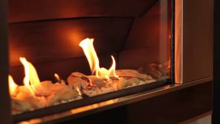 Escea ST900 Indoor Natural Gas Fireplace - Stainless Steel With ...