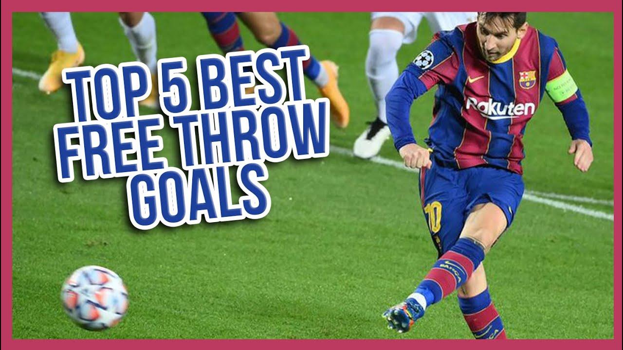 TOP 5 BEST FREE THROW GOALS (Leonel Messi) ⚽⚽⚽