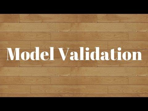 Model Validation:Simple ways of validating predictive models