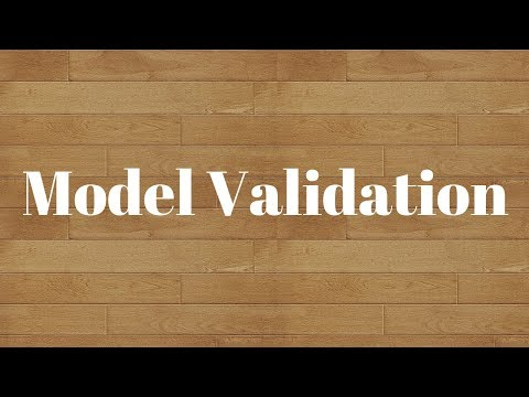 Model Validation:Simple ways of validating predictive models