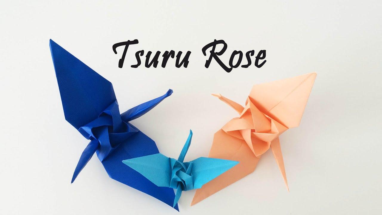 Origami - Tsuru Rose (rose crane) by Satoshi Kamiya - YouTube - photo#16