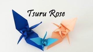 Origami - Tsuru Rose (rose crane) by Satoshi Kamiya