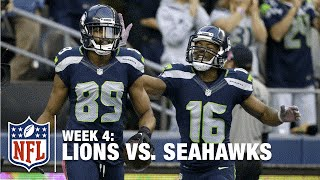 Russell Wilson Connects with Doug Baldwin for a 24-Yard TD | Lions vs. Seahawks | NFL