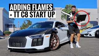 Twin Turbo C8 UPDATE + R8 FIRE TUNE!