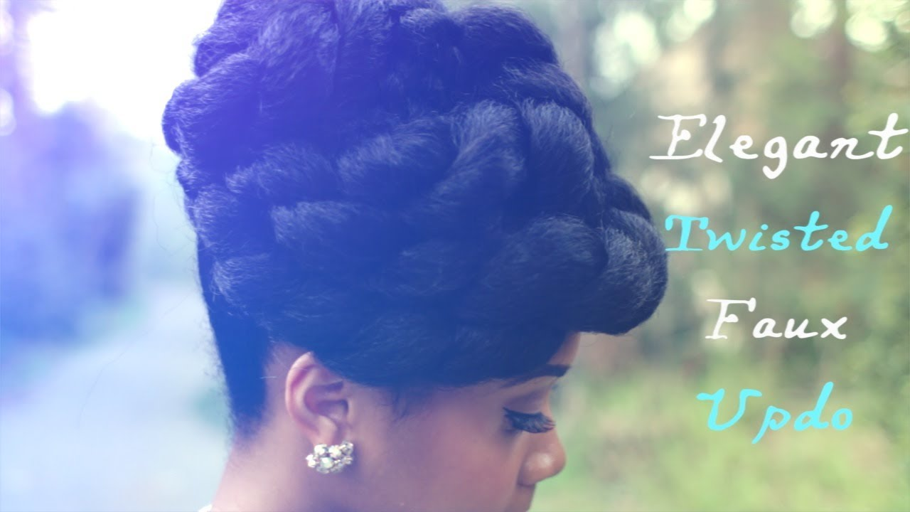 Faux Updo Protective Hairstyle Hair Tutorial On Natural