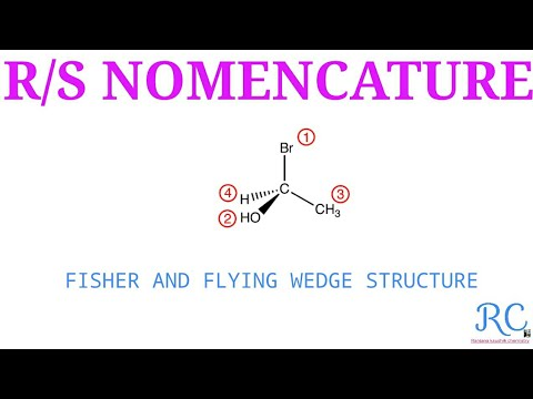 R AND S NOMENCLATUE (STEREOCHEMISTRY)