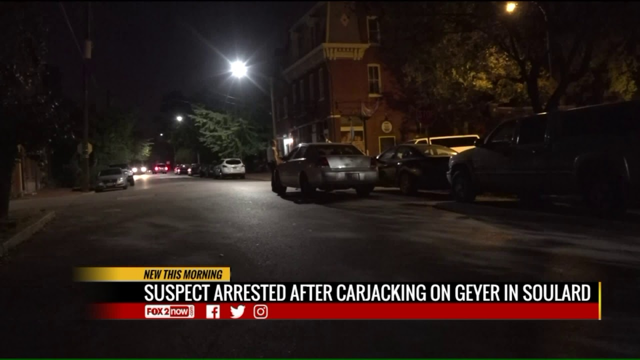 suspect arrested after soulard carjacking - youtube