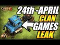 UPCOMING CLAN GAMES INFORMATION LEAK || CLASH OF CLANS
