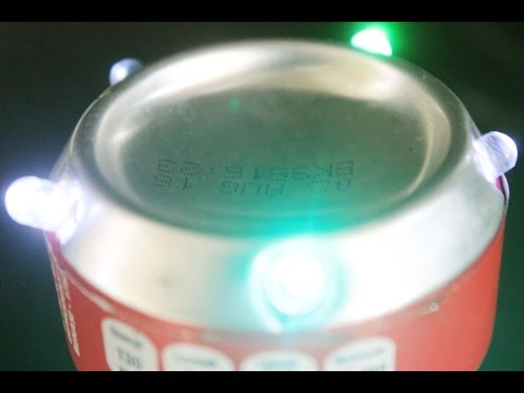 How to Make a Led Decorative Lights flickering glare of the Canned Drinks