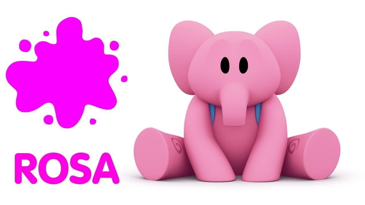 Pocoyo En Espanol Aprende Los Colores Rosa Caricaturas Y