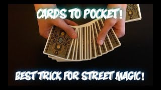Cards To SPECTATOR'S Pocket: Street Magic Card Trick! Performance And Tutorial