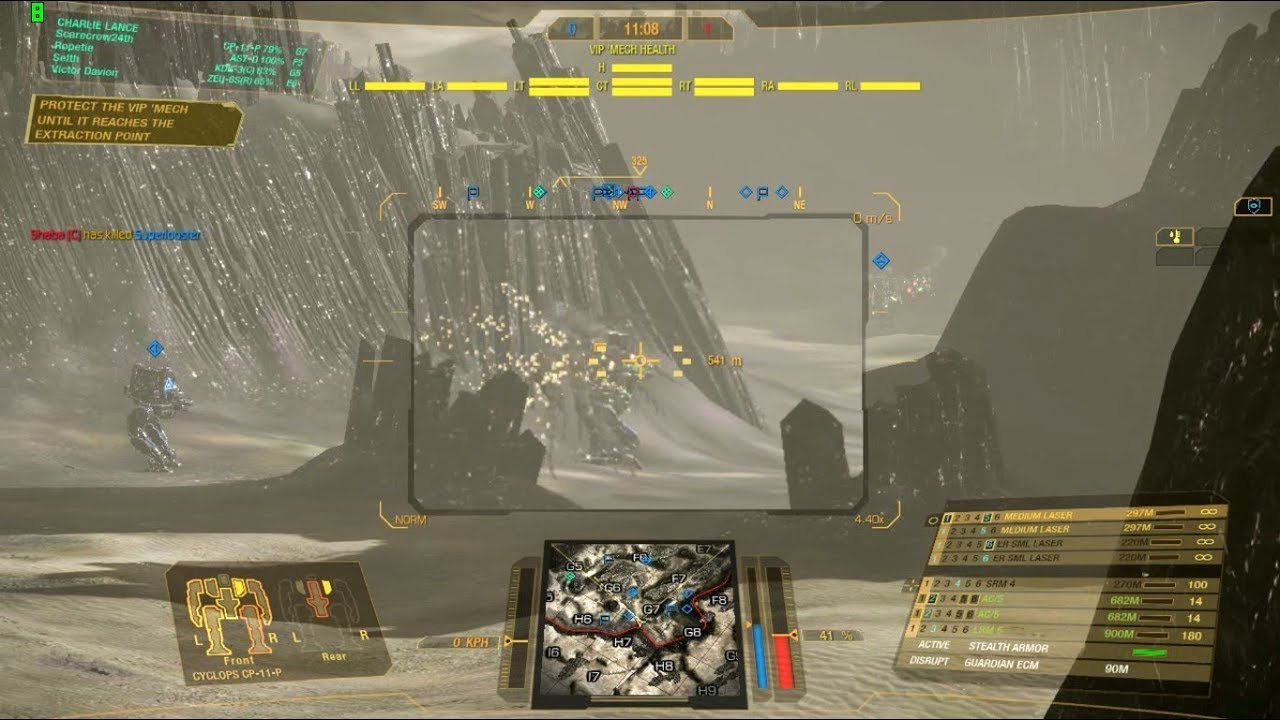 Mechwarrior Online Cyclops Cp 11 P Gameplay 019 Stealth Armor
