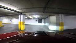 2014 Chevrolet Camaro SS 6-speed entering parking garage in downtown Chicago
