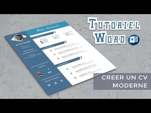 Word Créer Un Cv Moderne Youtube