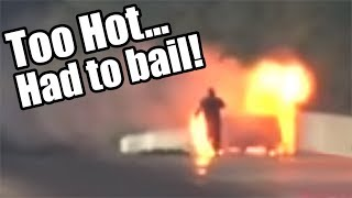 Terrifying Car FIRE - Driver BAILS While Moving!