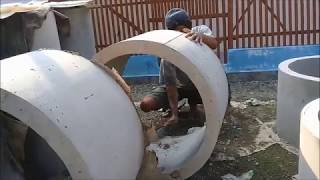 How To Make A Conrete Culvert With Simple Manual Type