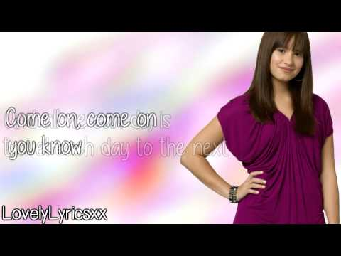 Demi Lovato- Our Time Is Here(Lyrics On Screen) HD