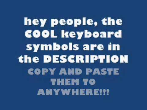 Cool Keyboard Symbols Youtube