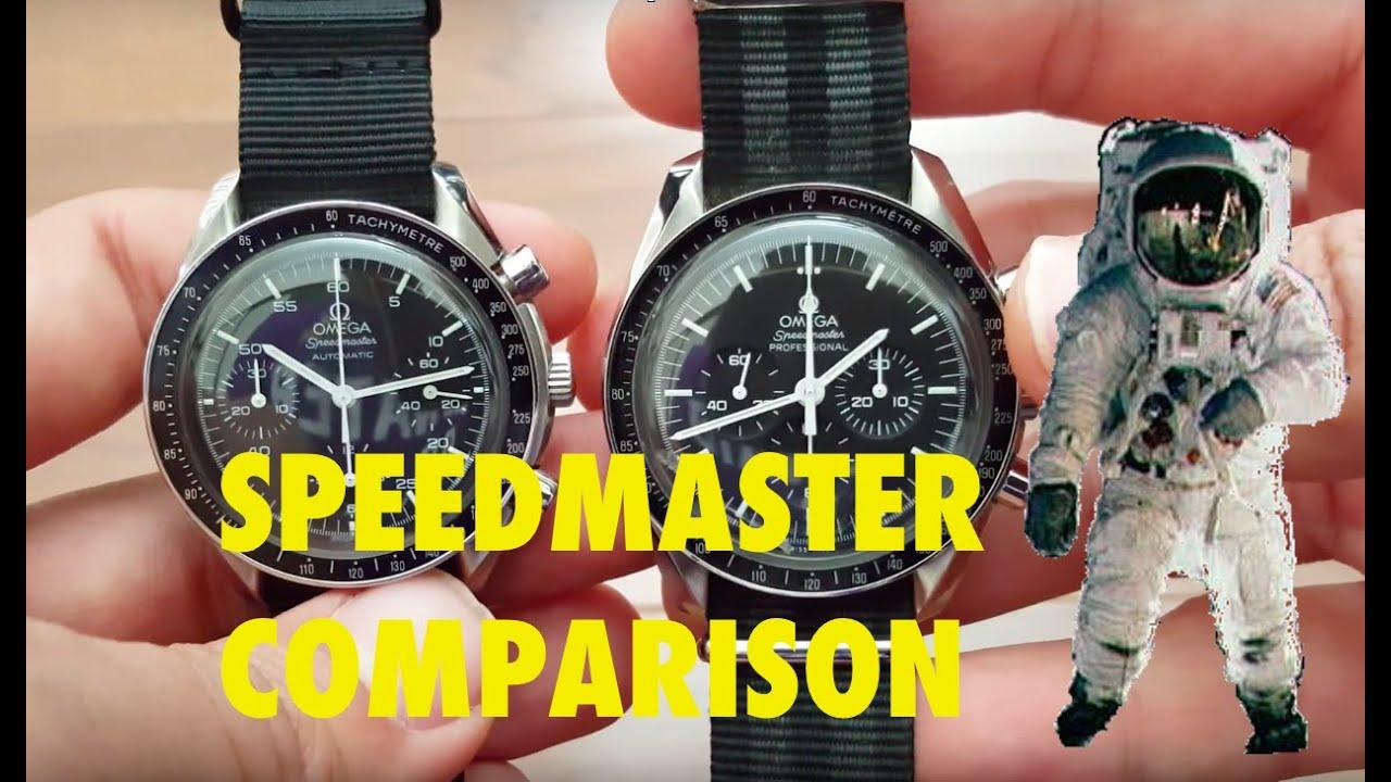 HD 4K Omega Speedmaster Moon Watch vs Speedy Reduced