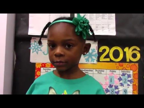 Warner Elementary School - Pre-K student reads quotes from letter from Birmingham Jail