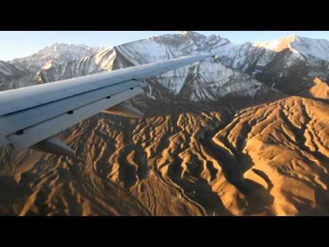 Landing at Leh Airport in Ladakh India