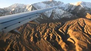 Landing at Leh Airport in Ladakh India